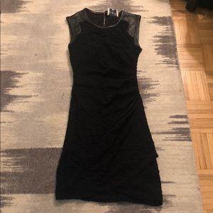 Sea sleeveless knee length black dress